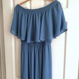 Show Me Your Mumu Coastal Blue Hacienda Maxi Dress
